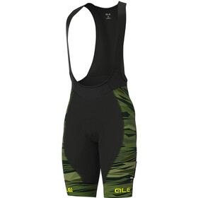 Alé Cycling Graphics PRR Rock Bib Shorts Men green/fluo yellow